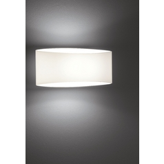 Holtkoetter Modern Sconce Wall Light with White Glass in White Finish