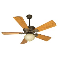 Craftmade Lighting Chaparral Aged Bronze Textured Ceiling Fan with Light