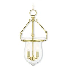 Livex Lighting Canterbury Polished Brass Mini-Pendant Light with Bowl / Dome Shade