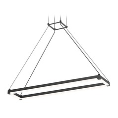 Sonneman a Way of Light Stix Rectangle Satin Black LED Pendant Light with Rectangle Shade