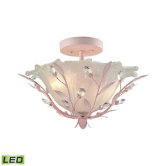 Elk Lighting Circeo Light Pink LED Semi-Flushmount Light