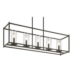 Modern Linear Chandelier Olde Bronze Crosby by Kichler Lighting