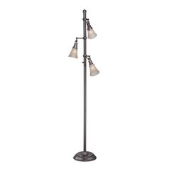 Lite Source Lighting Mercede Copper Floor Lamp with Bell Shade