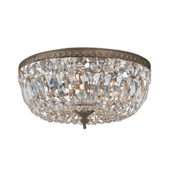 Crystal Flushmount Light in English Bronze Finish