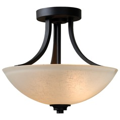 Kenroy Home Lighting Dynasty Burnished Bronze Semi-Flushmount Light