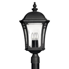 Hinkley Lighting LED Post Light with Clear Glass in Museum Black Finish 1331MB-LED