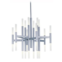 Mid-Century Modern LED Chandelier Silver Pinnacle LED by Maxim Lighting