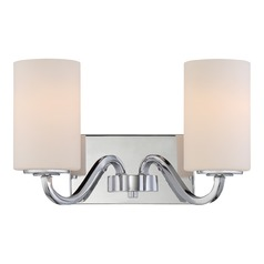 Nuvo Lighting Willow Polished Nickel Bathroom Light