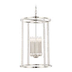 Crystorama Lighting Carson Polished Nickel Pendant Light