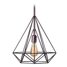 Pyramid Vintage Copper Pendant Light by Kenroy Home
