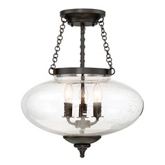 Savoy House Lighting Lowry English Bronze Semi-Flushmount Light