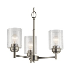 Seeded Glass Mini-Chandelier Brushed Nickel Winslow by Kichler Lighting