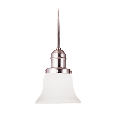 Hudson Valley Lighting Mini-Pendant Light with White Glass 3101-SN-341