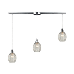 Elk Lighting Multi-Light Pendant Light with Clear Glass and 3-Lights 46017/3L