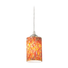 Design Classics Lighting Modern Mini-Pendant Light with Art Glass 582-09 GL1012C