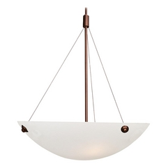 Access Lighting Noya Bronze Pendant Light with Bowl / Dome Shade