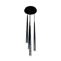 Avenue Lighting Highland Avenue Black Chrome LED Multi-Light Pendant