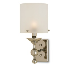 Currey and Company Pennsbury Polished Nickel Sconce