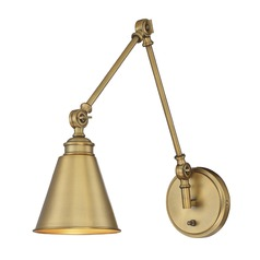 Savoy House Lighting Morland Warm Brass Pin-Up Lamp