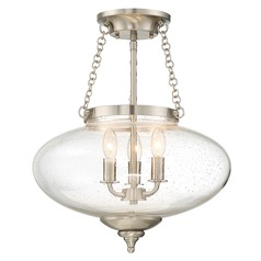 Savoy House Lighting Lowry Satin Nickel Semi-Flushmount Light