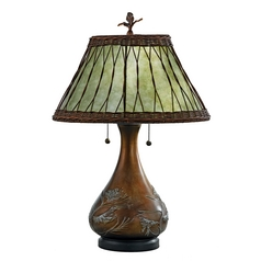 Craftsman table lamps craftsman style desk lamps mica table lamp aloadofball Image collections