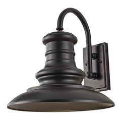 Feiss Lighting Redding Station Restoration Bronze LED Barn Light
