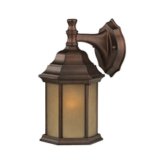 Outdoor Wall Light with Hexagon Shade - 12-Inches Wide