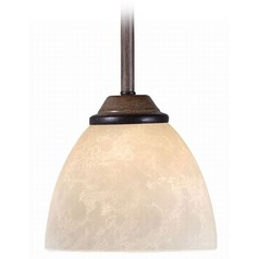 Kenroy Home Lighting Terrain Aruba Teak Mini-Pendant Light