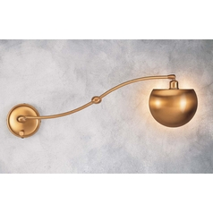 Holtkoetter Swing Arm Lamp in Antique Brass Finish