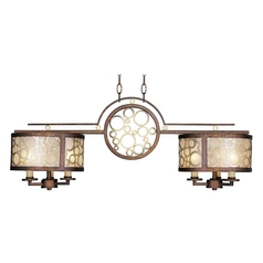 Livex Lighting Avalon Palacial Bronze with Gilded Accents Billiard Light with Drum Shade