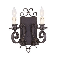 Savoy House Forged Black Sconce
