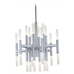 Maxim Lighting Pinnacle LED Metallic Silver LED Chandelier