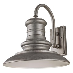 Feiss Lighting Redding Station Tarnished Silver LED Barn Light