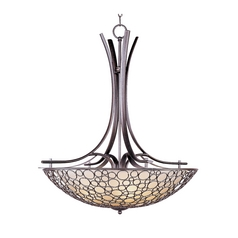 Pendant Light with White Glass in Umber Bronze Finish