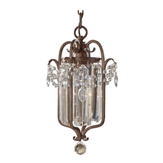 Crystal Chandelier in Mocha Bronze Finish
