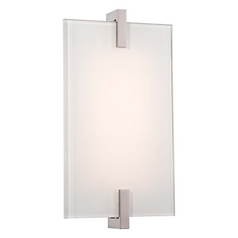 Modern LED Sconce Wall Light in Polished Nickel Finish