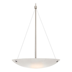 Access Lighting Noya Brushed Steel Pendant Light