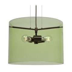 Besa Lighting Pahu Bronze Pendant Light with Drum Shade