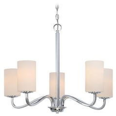 Nuvo Lighting Willow Polished Nickel Chandelier