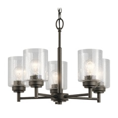 Seeded Glass Mini-Chandelier Olde Bronze Winslow by Kichler Lighting