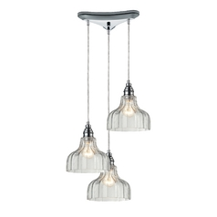 multilight pendant light with clear glass and 3lights
