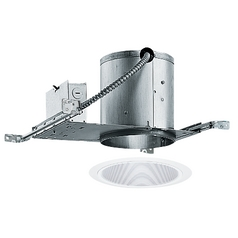 Juno Lighting 6-Inch Recessed Lighting Kit with Tapered Trim IC22/24W-WH