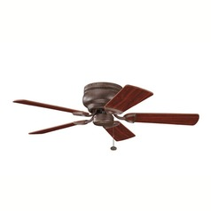 Kichler Lighting Kichler 42-Inch Bronze Ceiling Fan with Five Blades 339017TZ
