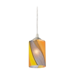 Design Classics Lighting Modern Mini-Pendant Light with Art Glass 582-09 GL1015C