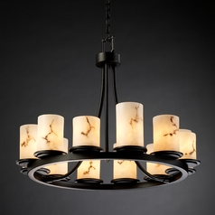 Justice Design Lumenaria 12-Light Chandelier in Matte Black