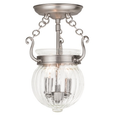 Livex Lighting Everett Brushed Nickel Semi-Flushmount Light