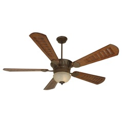 Craftmade Lighting Dc Epic Aged Bronze Textured Ceiling Fan with Light