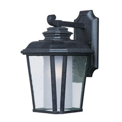 Seeded / Frosted Glass Outdoor Wall Light Black Maxim Lighting