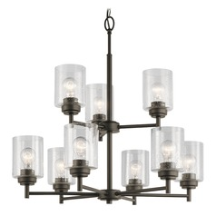 Seeded Glass Chandelier Olde Bronze Winslow by Kichler Lighting