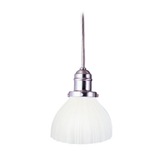 Hudson Valley Lighting Mini-Pendant Light with White Glass 3101-SN-444